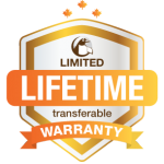 Lifetime warranty logo with no shadow