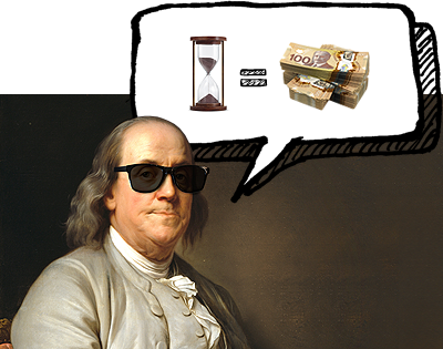 Time is money. Benjamin Franklin.